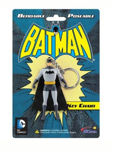 Animated Classic Batman Bendable Character Hanging Keychain Charm - 1