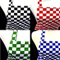 100% UK MADE Chefs Check Aprons - 4 Colours