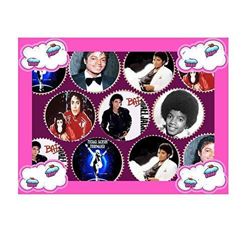 [30 x MICHAEL JACKSON PREMIUM QUALITY CUPCAKE TOPPERS EDIBLE RICE WAFER PAPER 134] (Michael Jackson Decorations)