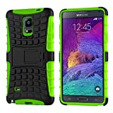 Case For Note 4, Cruzerlite Hybrid Tough Rugged Armour Defendor Kickstand Case For Samsung Galaxy Note 4 - Green...