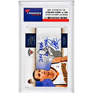 Stephen Curry Golden State Warriors Autographed 2009-10 Studio #129 Rookie Card with... by Sports Memorabilia