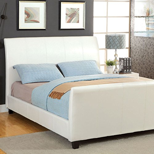 Maynard Contemporary Style White Finish Bed Frame Set red free shipping new 2 5x420 magnifier dentist dental surgical binocular loupes optical and portable led head light lamp 2015 a