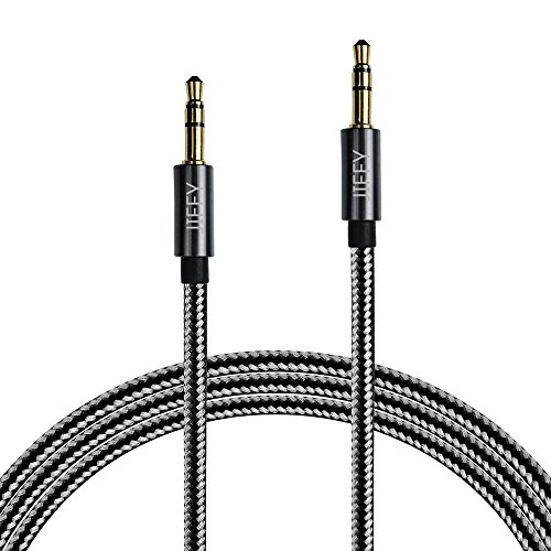 jiffy-35mm-nylon-tangle-free-male-to-male-premium-metal-audio-cable-3ft-1m-aux-cable-for-headphones-