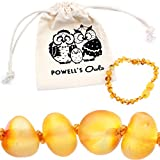 Baltic-Amber-Teething-Bracelet-or-Anklet-for-Babies-Toddlers-and-Kids-Lab-Tested-Raw-Unpolished-Honey-55-Inches
