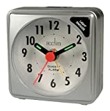 ACCTIM CK2587 INGOT MINI TRAVEL SILVER ALARM CLOCK