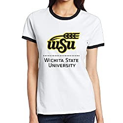 LEE75S Wichita State University Colorblocking Short Sleeve T-shirts For Adult
