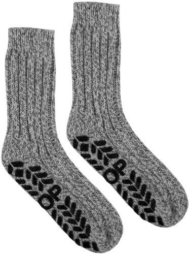 6 Paar Antirutsch Norweger Socken mit ABS Sohle von normani