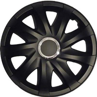 Radkappen Radblenden Radzierblenden DRIFT Schwarz Matt 13 Zoll Ford Escort, Fiesta, Focus, Fusion, Ka, Mondeo von NRM - Reifen Onlineshop