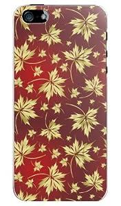 メール便 送料無料 iPhone5専用ケース モミジ 2 スマートフォン/スマートホンのアイフォン5のカバー/UV硬化インク仕上げのスマホケース スマートフォンアクセサリー