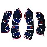 Weatherbeeta Set of 4 Travel Boots -NAVY/RED/WHITE PONY SIZE