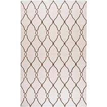 Hot Sale Surya FAL1009 Fallon Designer Flat Weave Hand Woven 100% Wool Ivory Rug (9-Feet x 13-Feet )