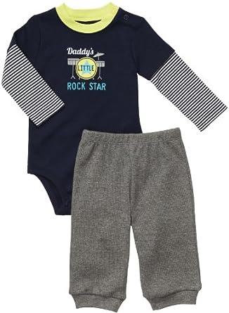 Carter's Bodysuit & Pant Set - Daddy Rock-3M