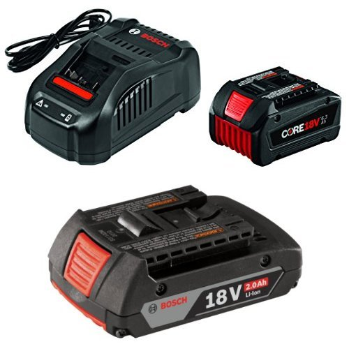 Bosch GXS18V-01N14 18V Starter Kit with CORE18V Battery and Charger, Black with 2.0 AH battery