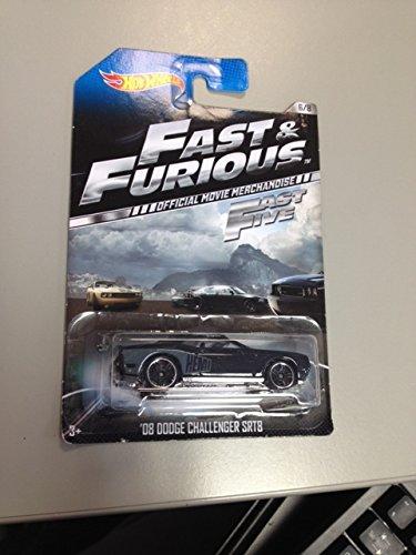 Hot Wheels Fast & Furious Official Movie Merchandise Fast 5 '08 Dodge Challenger Srt8 6/8