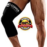 Copper Compression Recovery Knee Sleeve, Highest Copper Content. Infused Fit Wear Anywhere (Large)