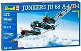 Revell 04130 - Juego de construcción de maqueta del bombardero Junkers Ju88 A-4/D-1 (escala 1:72)