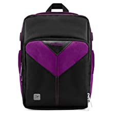 buy Vangoddy Sparta Travel Backpack For Casio Exilim Pro Ex-F1 Compact Digital Camera, Black & Purple