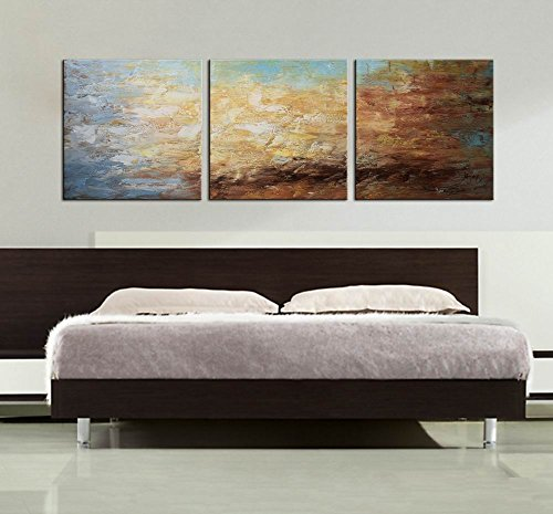 ARTLAND Modern 100% Hand Painted Framed Abstract Oil Painting