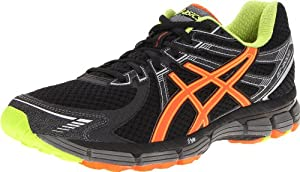 ASICS Men's GT-2000 Running Shoe,Black/Orange/Lime,10 D US