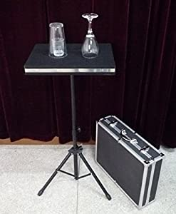 Glass Breaking And Coin into Glass Table With Carrying Case / Magic Tricks/Magic Props/Stage Magic