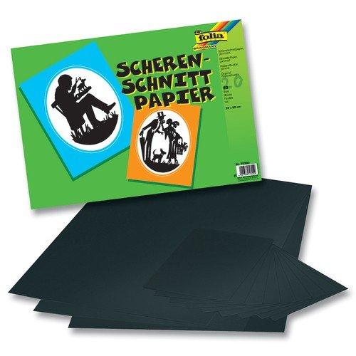 Folia scherenschnittpapier gummiert 35 x 50 cm schwarz - Scherenschnitt sterne ...