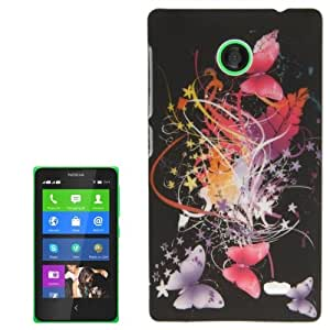 Butterfly Flying Pattern Plastic Case for Nokia X / X+