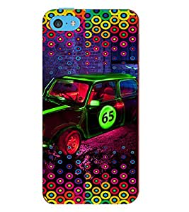 PRINTVISA Abstract Car Case Cover for Apple iPhone 5C