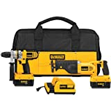 DEWALT DCX6210 36-Volt Lithium-Ion Cordless Hammer Drill/Reciprocating Saw Combo Kit