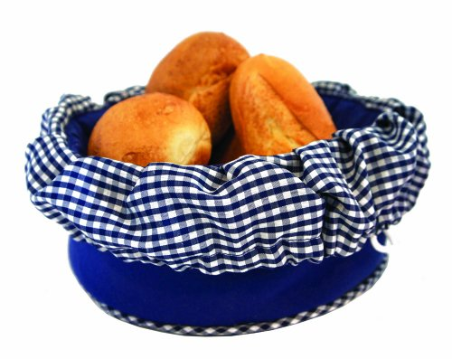 Bun Warmer - Insulated Bun and Bread Warmer and Basket - Keeps Warm for up to One Hour (Blue)