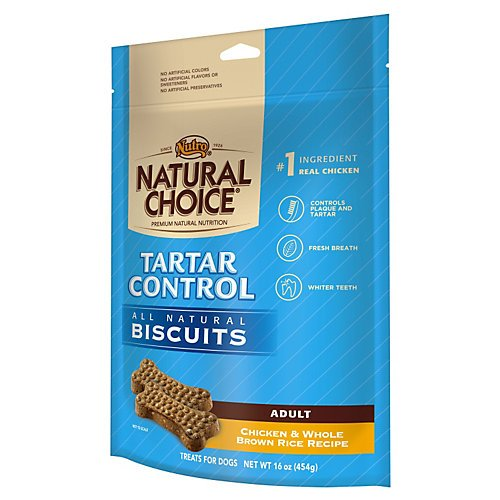 NUTRO 791140 8-Pack Natural Choice Tartar Control Biscuits for Dogs, 32-Ounce (Nutro Natural Choice Dog Treats compare prices)