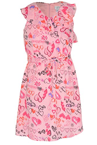 Blush by Us Angels Ruffle Chiffon Dress (Pink Heart, 14)