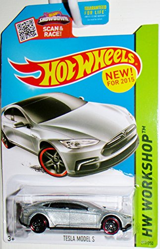 Hot Wheels, 2015 HW Workshop, Tesla Model S [Silver] Die-Cast Vehicle, #217/250 (Tesla Model compare prices)
