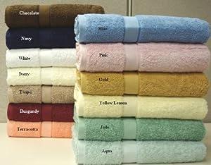 100% Egyptian Cotton Bath Towel Set 6 Piece - Terracotta