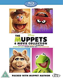 The Muppets Bumper 6 Movie Box Set [Muppets Most Wanted, The Muppets (2011), The Muppets Movie (1979), The Great Muppet Caper, The Muppet Christmas Carol, Muppet Treasure Island] [Blu-ray] from Walt Disney