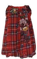 Faye Red Checks Chiffon Bubble Dress 2-3Y