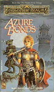 Azure Bonds The Finders Stone Trilogy by Kate, and Jeff Grubb Novak and Illustrated Clyde Caldwell