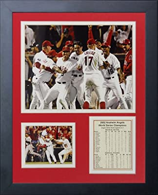 Legends Never Die 2002 Los Angeles Angels of Anaheim Champions Framed Photo Collage, 11 by 14-Inch