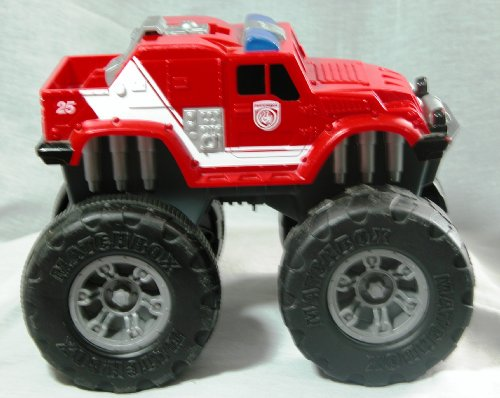 Matchbox Fire Big Wheels Humvee 2001 Red - 1