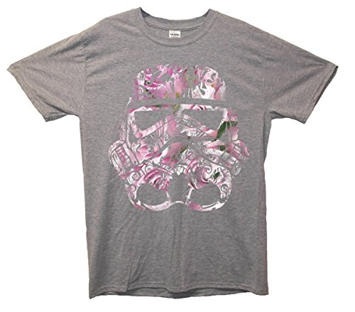 Minamo Patterned Floral Stormtrooper T-Shirt Large (42-44 Inches) Grey