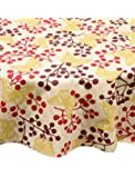 Ritz 67506 PEVA Red Butterfly Print Table Cloth, 70-Inch