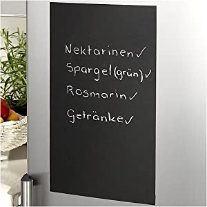 k hlschrankfolie kreidetafel wandtafel tafelfolie schwarz 120x60 inkl 2 kreidestifte amazon. Black Bedroom Furniture Sets. Home Design Ideas