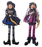 Ganz Light Up Cackling Witches Shelf Sitter, set of two (EH26211)