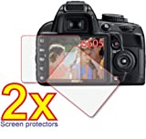 2x Nikon D-SLR D3100 D3000 Premium Clear LCD Screen Protector Cover Guard Film, no cutting is required! Exact fit and satisfaction guaranteed!