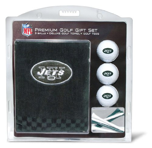 NFL New York Jets Embroidered Golf Towel (3 Golf Balls/12 Tee Gift Set) at Amazon.com