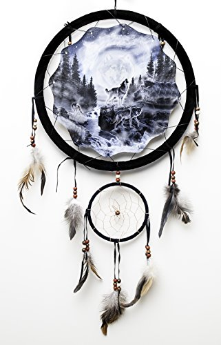 Beautiful Hidden Wolves Dream Catcher Howling Wolf Decorative Home Gift Decor