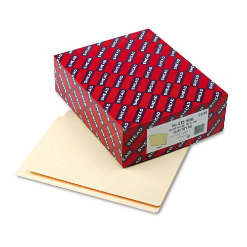 Smead - Folders, Straight Cut, Reinforced End Tab, Letter, Manila, 100/Box - Pack of 4
