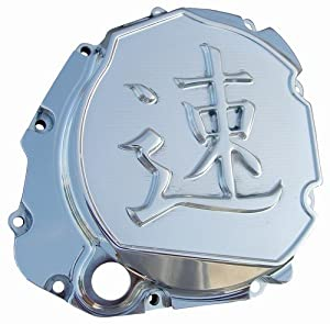 YANA SHIKI YANASHIKI Clutch Cover Chrome Solid Flat Engraving Speed Symbol |SUZUKI CA3660SPEED