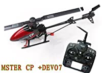 USA Ship Walkera Master CP FBL Rc Helicopter RTF W/ 6 Axis Gyro, Lipo Battery,charger and DEVO7 Transmitter from Walkera