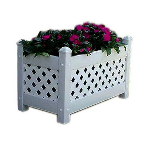 Buy DuraTrel White Plastic Planter Box (model 11154)