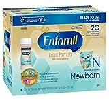 Enfamil Newborn Baby Formula 2 fl oz Plastic Nursette Bottles6 Count Pack of 4 by Enfamil